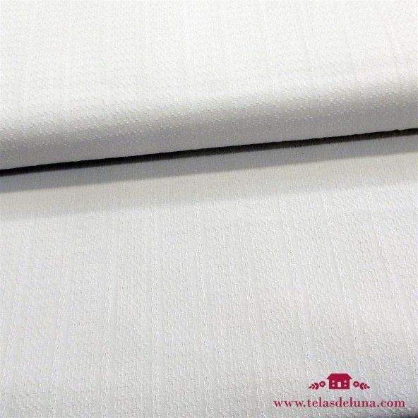 Tela blanca tramada ideal confección