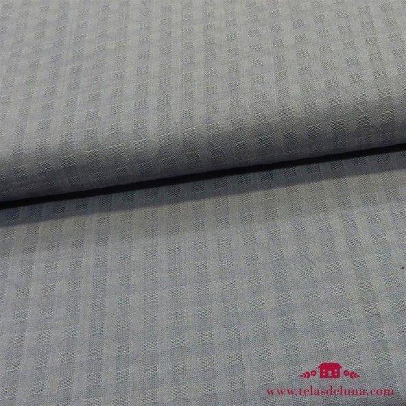Tela algodon tramado gris