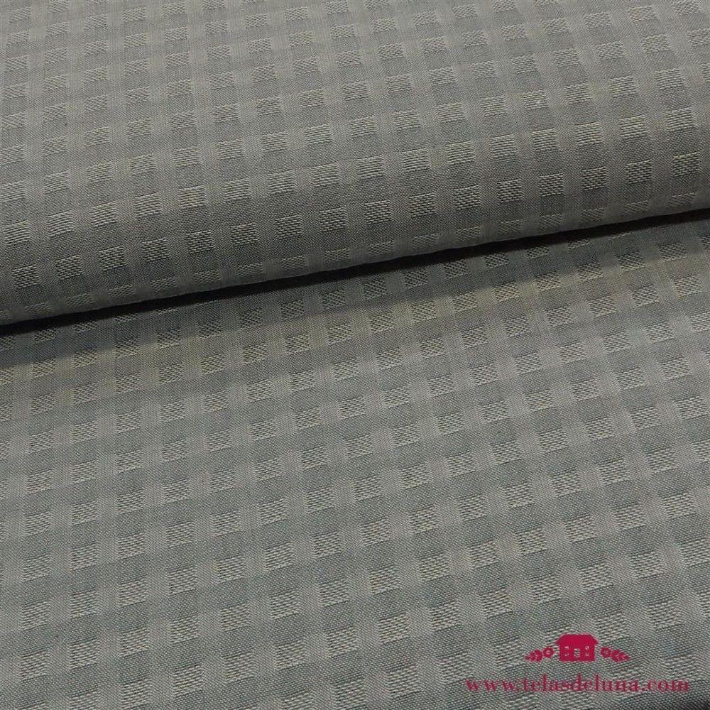 Tela algodon tramado gris oscuro