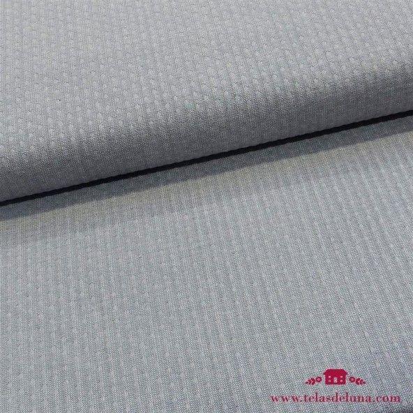 Tela algodon tramado azul zen