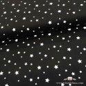 Tela estrellas blancas fondo negro