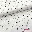 Tela estrellas negras fondo blanco