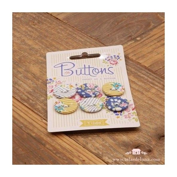 Botones mostazas Tilda Apple Butter
