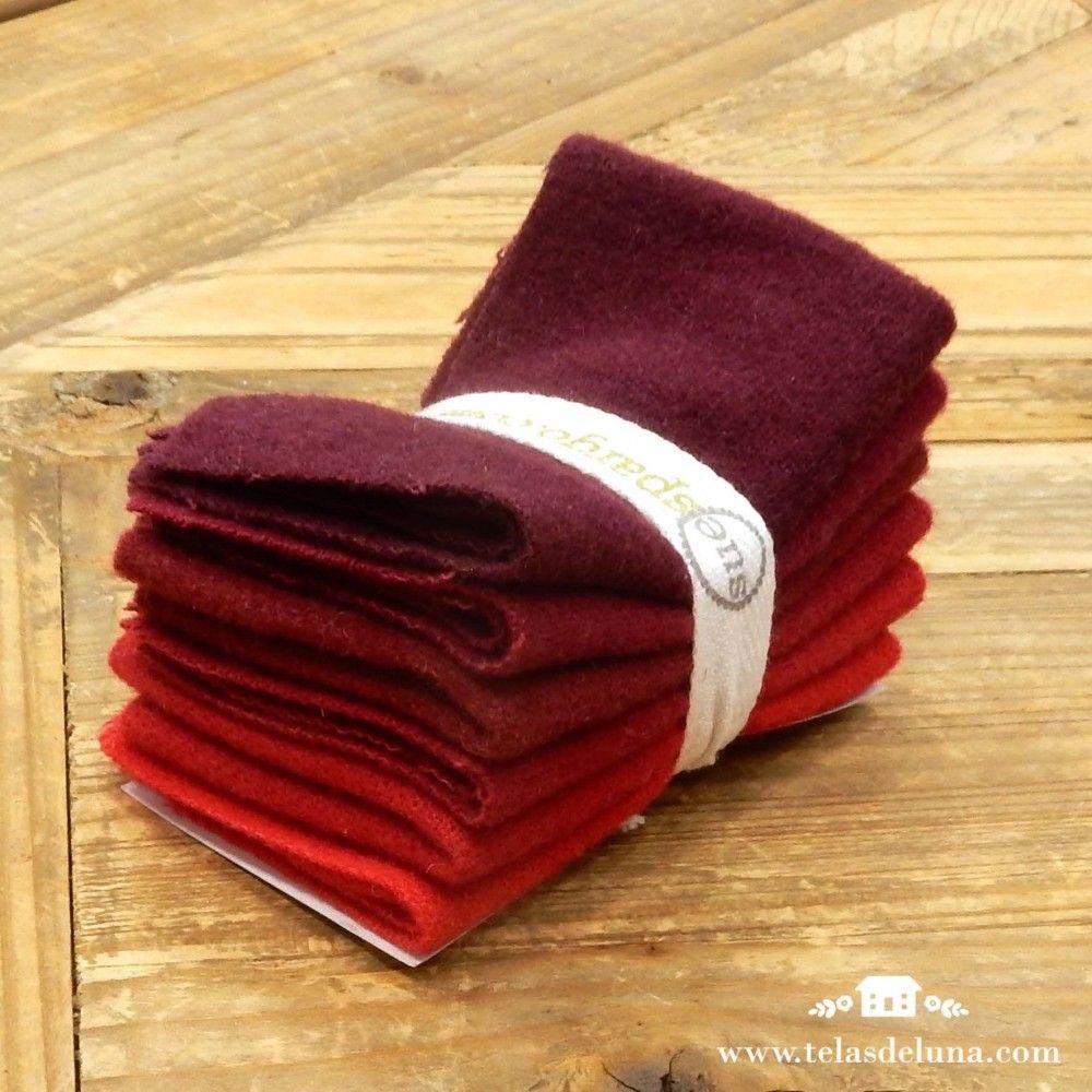 Telas de Sue Spargo colores calidos rojos