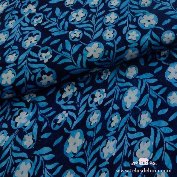 Viscosa batik azul plantas