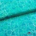 Viscosa batik flores turquesa