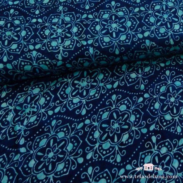 Viscosa batik azalea azul