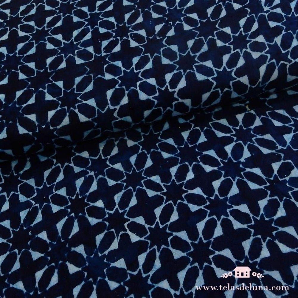 Viscosa batik azul medianoche