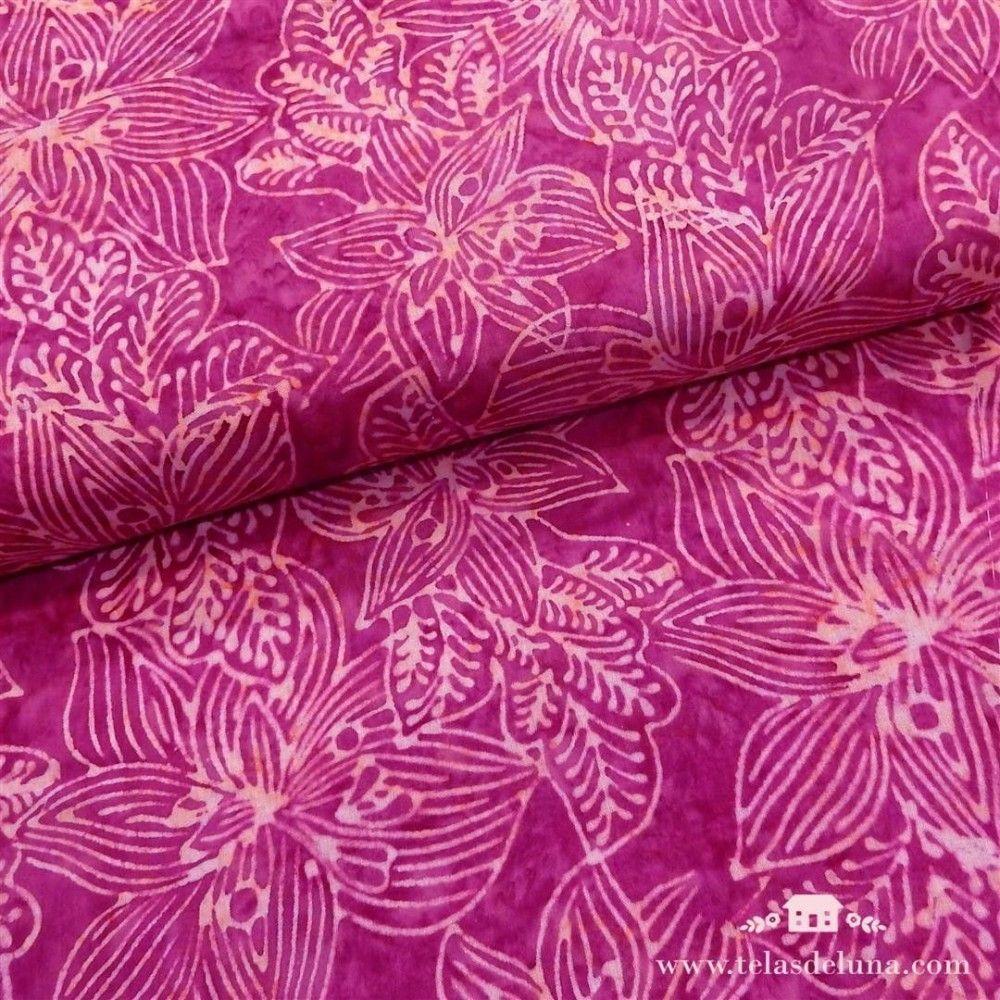 Viscosa batik morada orquideas