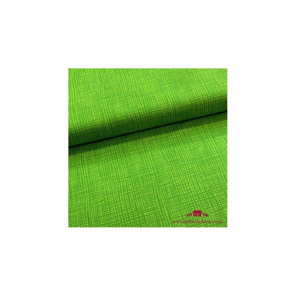 Tela verde lima garabatos