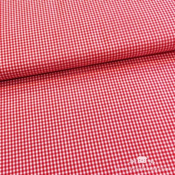 Tela cuadros vichy rojo 2.7mm