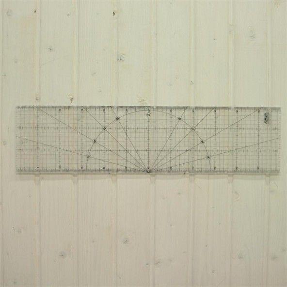 Regla Olfa 15x60 cm.