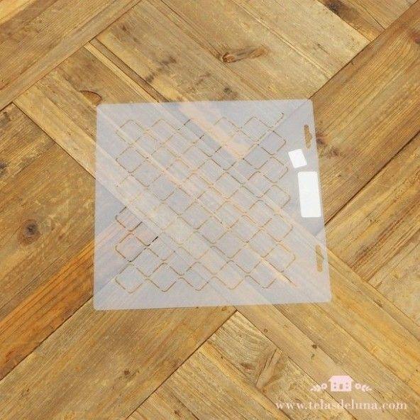 Plantilla patchwork cuadrados
