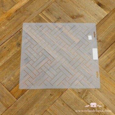 Plantilla patchwork rectangulos