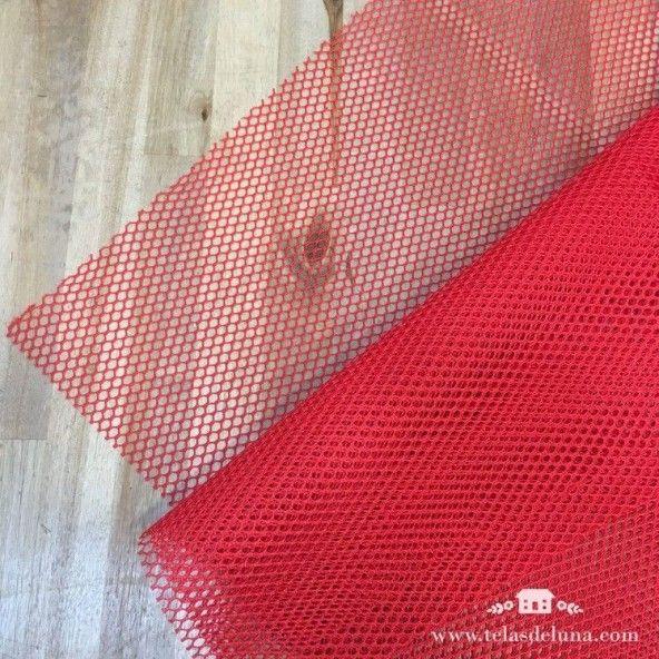 Tela de red rojo y cinta