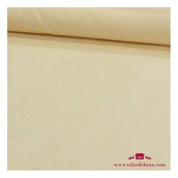 Mantel antimanchas beige adamascado