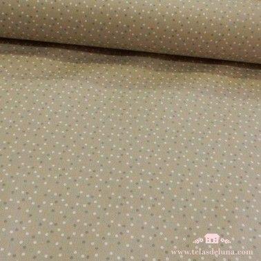 Mantel antimanchas topos grises blancos