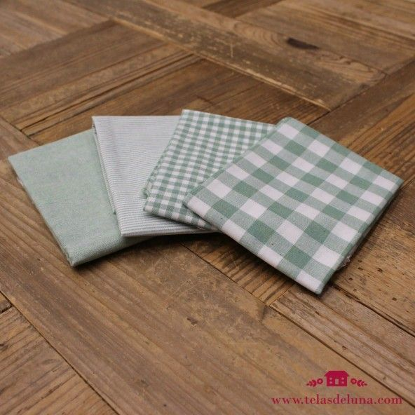 Fat quarters vichy verdes