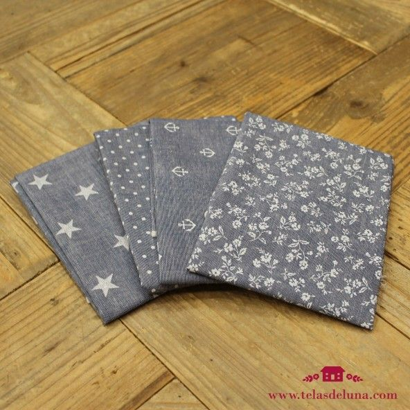 Fat quarters jeans estampados