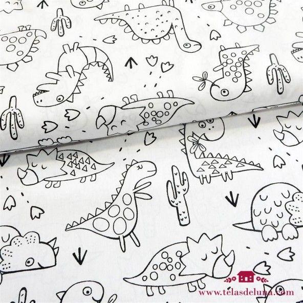 Tela para pintar dinosaurios
