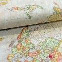 Tela gris mapamundi