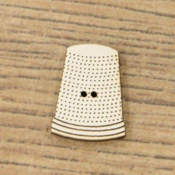 Botón decorativo dedal