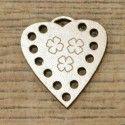 Botón decorativo corazón