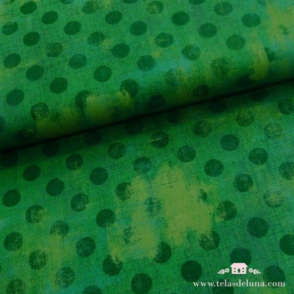 Tela grunge verde topos