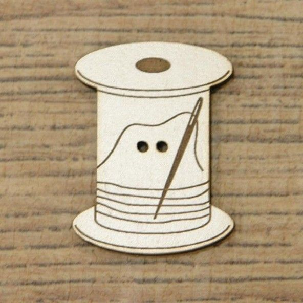 Botón decorativo bobina grande