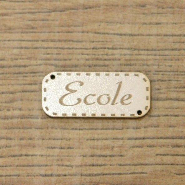 Botón decorativo ECOLE