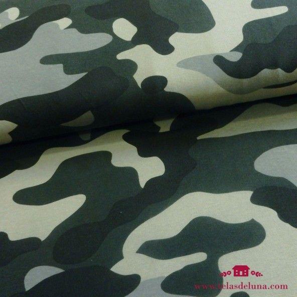 Tela camuflaje jersey verde