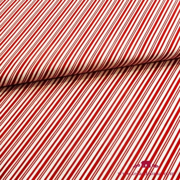 Tela rayas rojas blancas