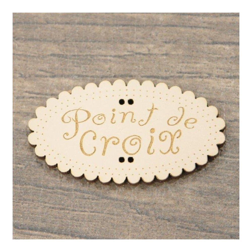 Botón decorativo Point de Croix