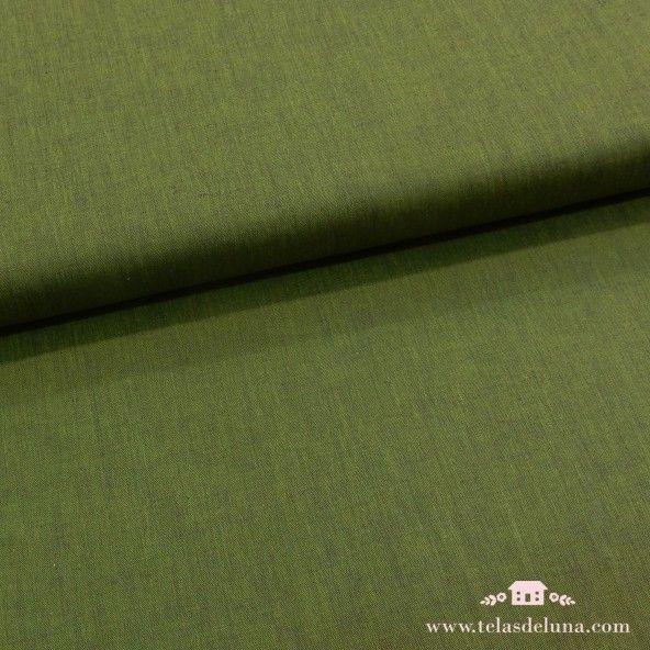 Tela algodón verde pino