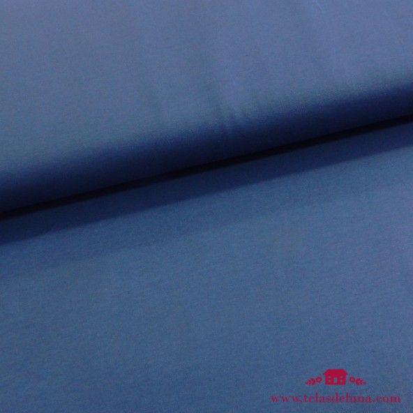 Tela jersey azul añil