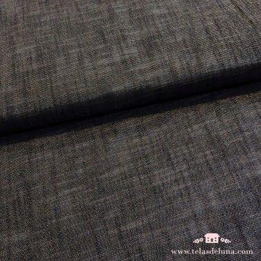 Tela lame plateada gris antracita