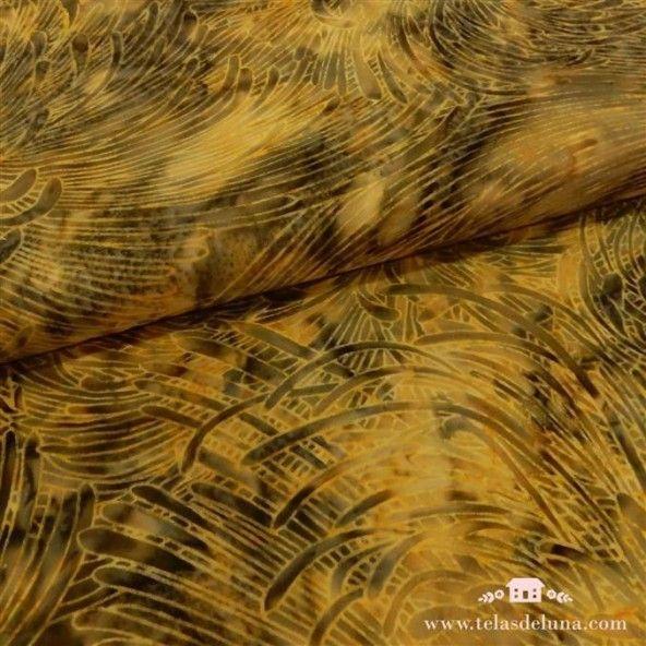 Tela batik tonos mostaza