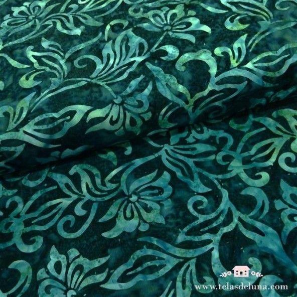 Tela batik tonos azul