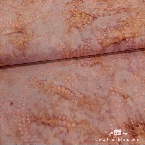 Tela batik rosa malva