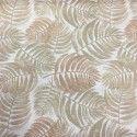 Mantel antimanchas helechos beige