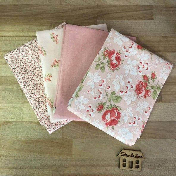 Fat quarter flores rosas II