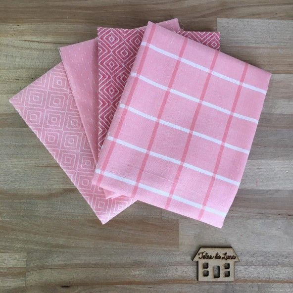 Fat quarter cuadros rosas