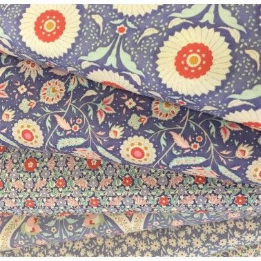 Tela tilda Paperflower Blue