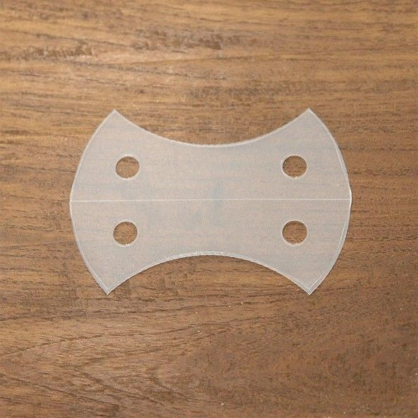 Plantilla corazón de manzana 70 mm. 20 piezas