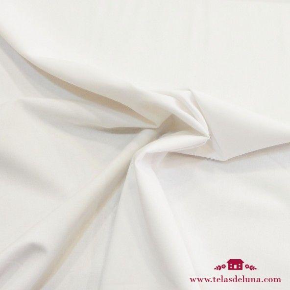 Tela algodon blanco liso