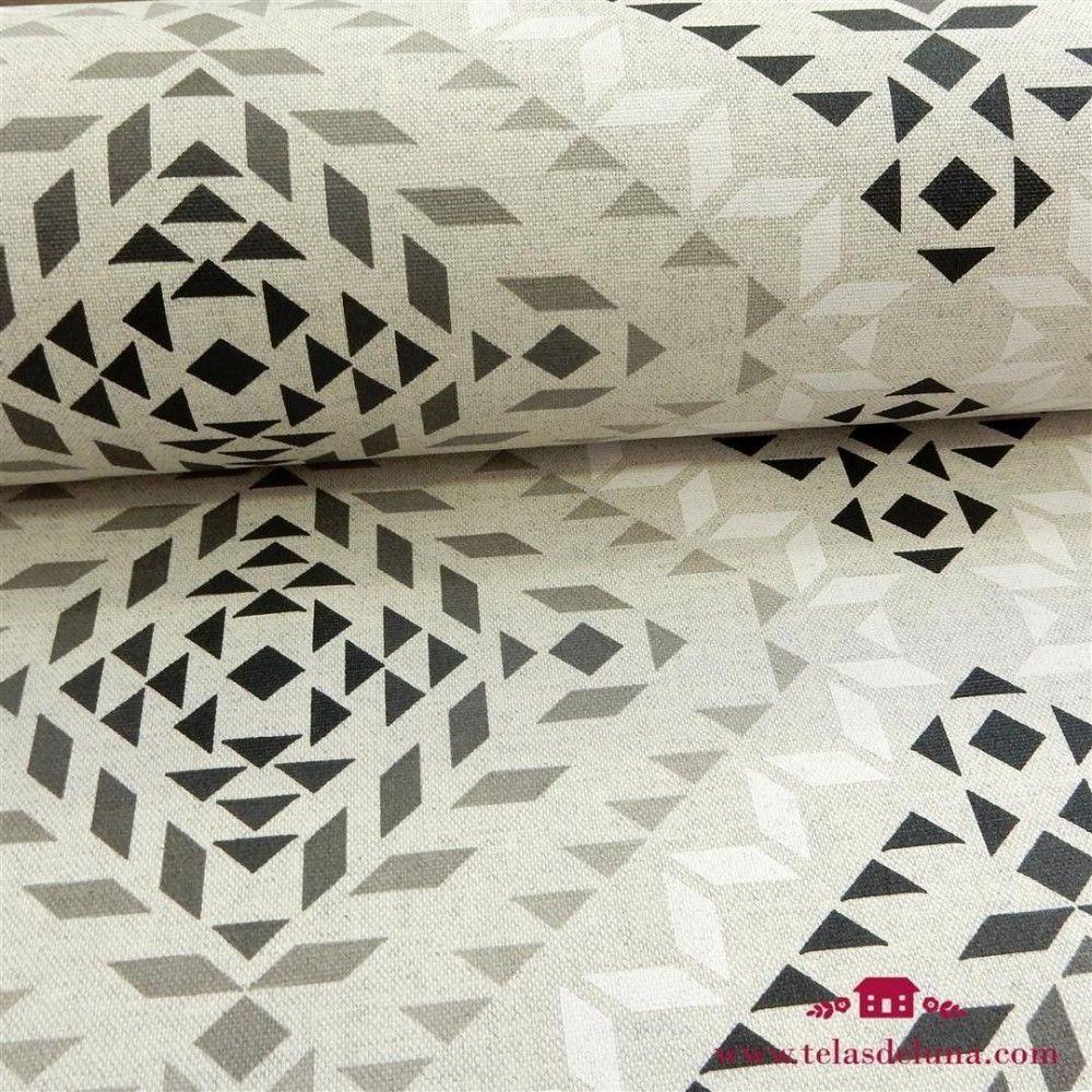 Mantel figuras geometricas grises