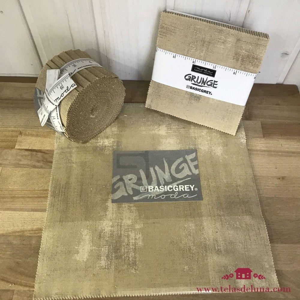 Colección grunge basicgrey beige - Telas precortadas