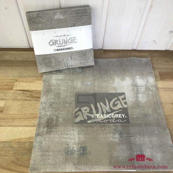 Colección grunge basicgrey gris- Telas precortadas