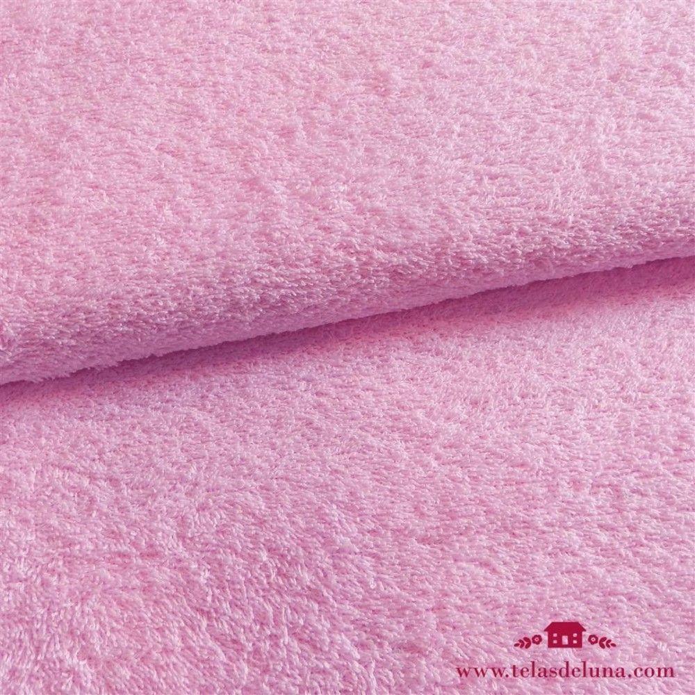 Tela rizo toalla rosa