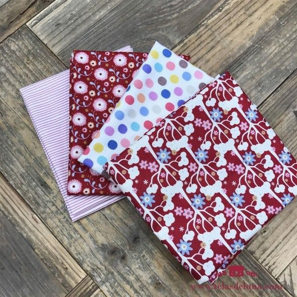 Fat quarters rojos Tilda